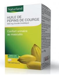 Naturland - Huile de pépins de courge bio - 90 capsules confort urinaire Pharma5avenue