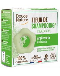 Douce Nature Fleur de Shampooing solide cheveux gras Ortie Karité Argile verte 85gr régule le sébum Pharma5avenue