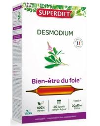 Super Diet Desmodium Bio Bien être du Foie 20 ampoules de 15 ml fonction hépatique et digestive Pharma5avenue