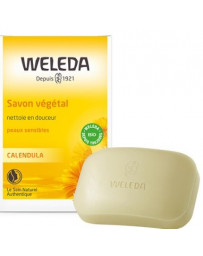 Weleda Savon végétal Calendula peau sensible 100 gr, savon bio, pharma 5 avenue
