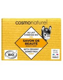 Cosmo Naturel Cosmo Naturel Savon au lait d'ânesse sans Parfum au Miel 100 gr, savon bio, pharma5avenue
