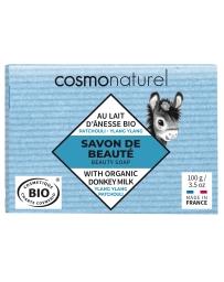 Cosmo Naturel Savon au lait d'ânesse et Huiles Essentielles Patchouli Ylang Ylang 100g