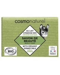 Cosmo Naturel Savon au lait d'ânesse à l'huile essentielle de Verveine 100 gr