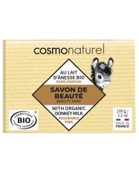 Cosmo Naturel Savon au lait d'ânesse Karité sans parfum 100 gr