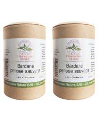 Bardane Pensée Sauvage lot de 2 boites 150 gélules végétales Herboristerie de paris éclat et netteté Pharma5avenue