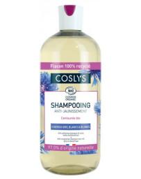 Coslys Shampooing anti jaunissement cheveux gris blancs et blonds - 500ml centaurée Pharma5avenue