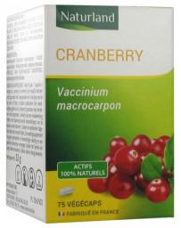 naturland - programme intensif - cranberry - confort urinaire - 75 gélules
