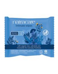 12 Lingettes intimes en Coton Biologique 12 pièces Natracare - produit nettoyant intime