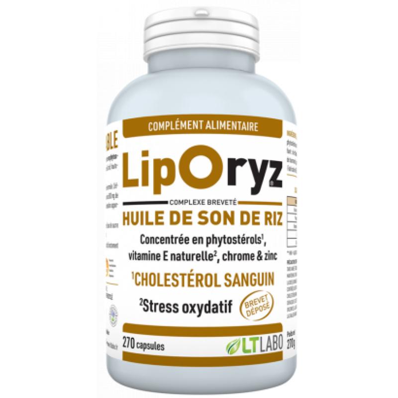 Liporyz - Huile de son de riz - 200 capsules -Gamma-oryzanol