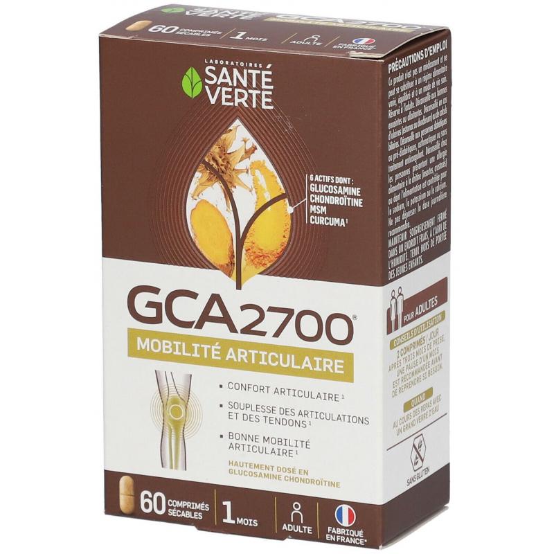 GCA 2700 - Glucosamine- 60 Comprimés - Santé Verte
