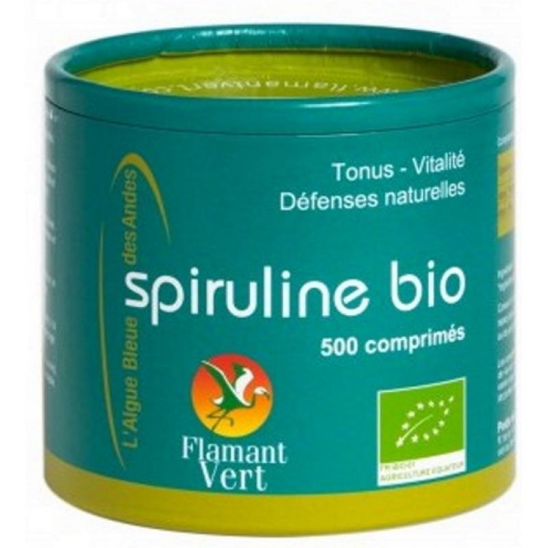Flamant Vert - Spiruline Ecocert 500 comprimés de 500mg