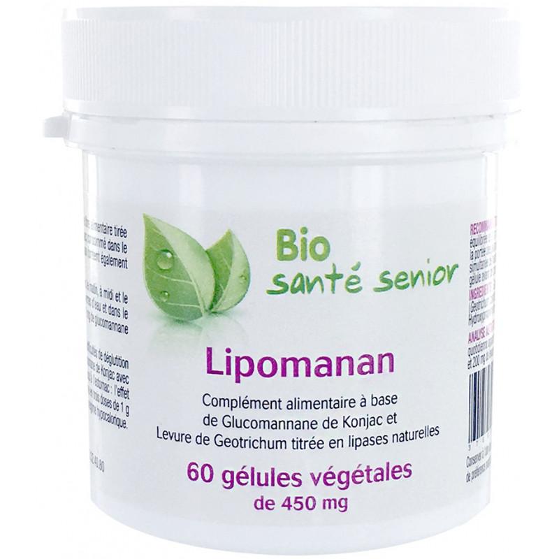 Bio Santé Senior Lipomanan 60 gélules végétales