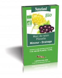 Naturland - Minceur Drainage Bio - 10 ampoules