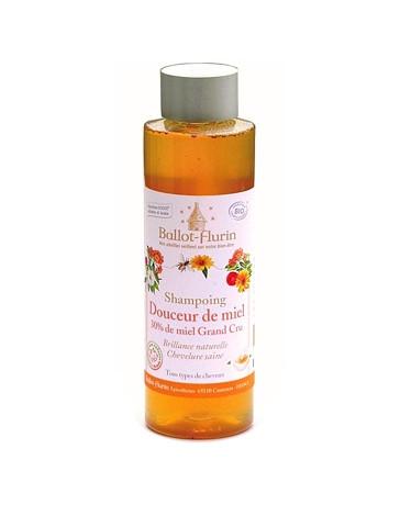 shampooing familial douceur de miel 30% de miel Grand cru 250ml Ballot Flurin - shampooing bio pour les cheveux