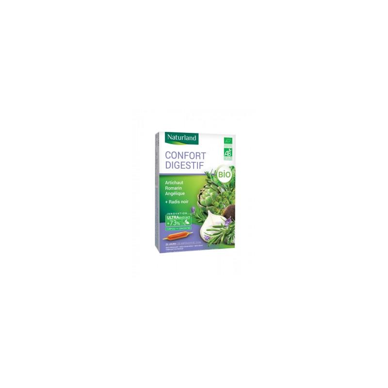 Naturland Digestion Bio (Radis noir, Artichaut, Romarin) 20 ampoules