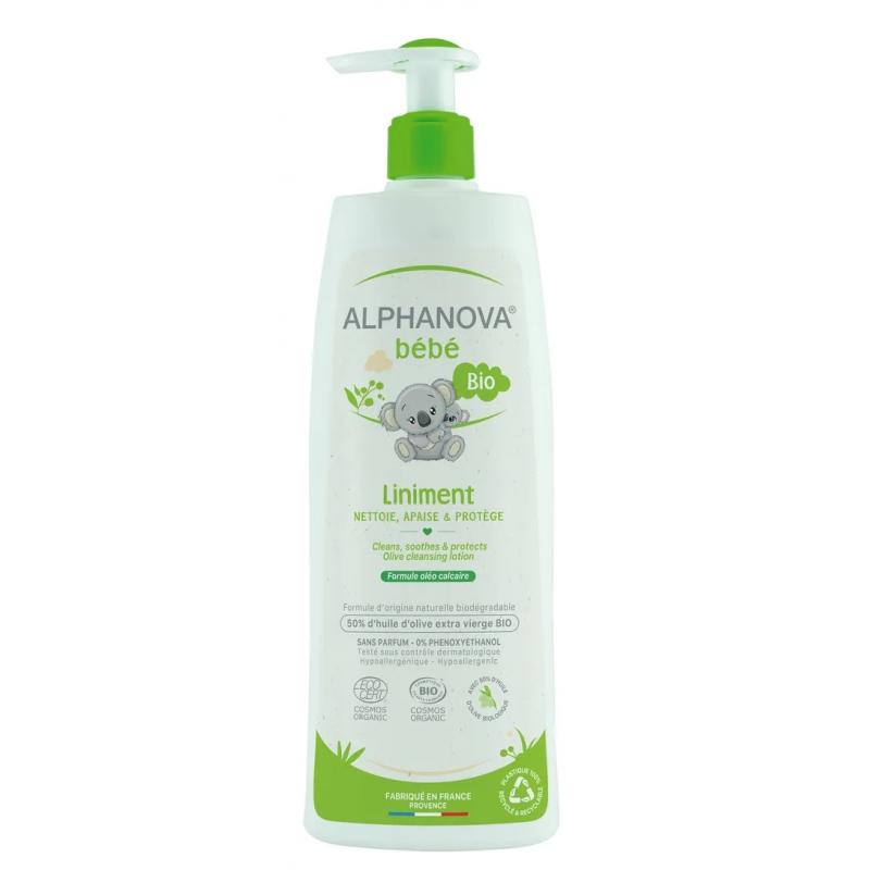 Alphanova Bio Liniment Oléo Calcaire 50% huile d'Olive verte 500ml