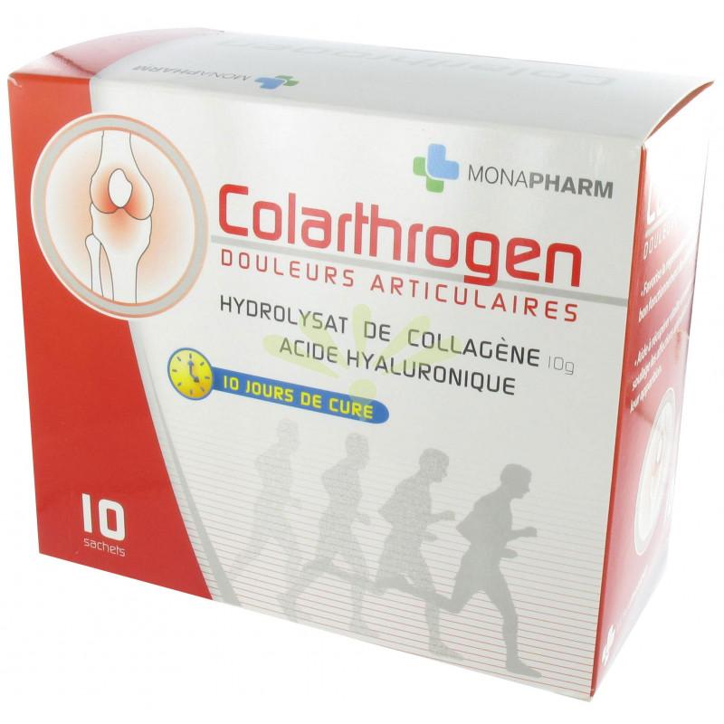 Monapharm - Colarthrogen (Collagène et Acide Hyaluronique) 10 sachets - 10 à 20 jours de cure