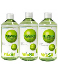 VitaSil - Silicium Organique Buvable - lot de 3 flacons de 500 Ml