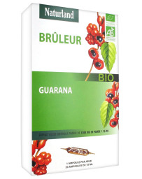 Naturland - Guarana Bio - 20 ampoules de 15ml