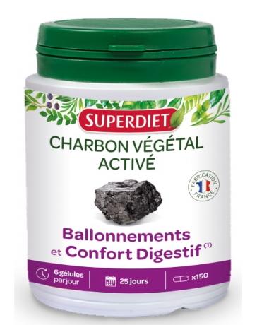 Super Diet - Charbon végétal activé 150 Gélules