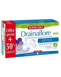 Super Diet Drainaflore 20 ampoules de 15ml +10 ampoules OFFERTES