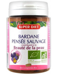Super Diet Bardane Pensée sauvage 80 comprimés bio