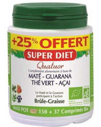 Super Diet Quatuor maté guarana thé acai Bio 150 + 37 comps