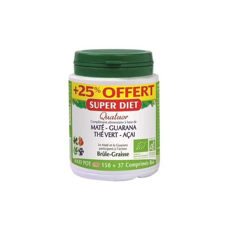 Super Diet Quatuor maté guarana thé acai Bio 150 + 37 comps