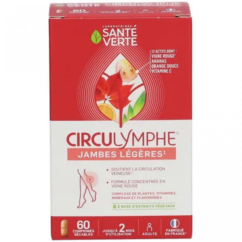 Circulymphe® 60 comprimés Santé verte jambes légères Pharma5avenue
