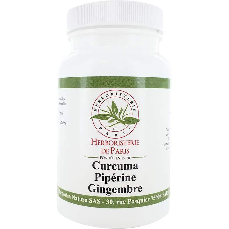 Herboristerie de Paris Curcuma Pipérine Gingembre 90 gélules végétales