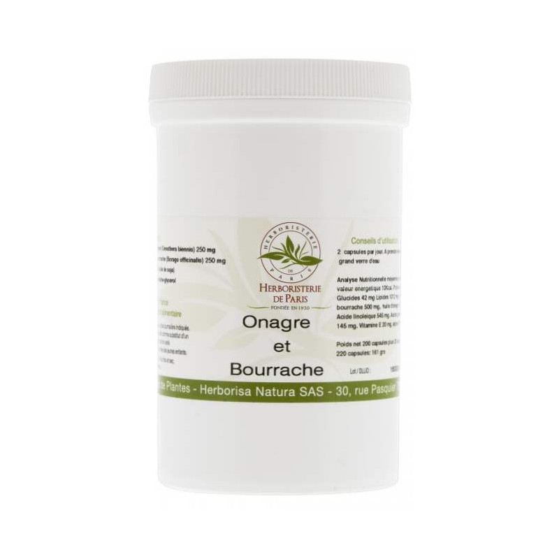 Herboristerie de Paris Huiles Onagre - Bourrache 220 capsules