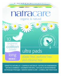 Natracare Serviettes ultra longues à ailettes Lot de 10
