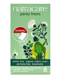 18 protèges slip coton bio naturels incurvés emballés Natracare - produit d'hygiène féminine PHARMA5AVENUE