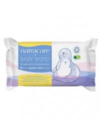 Lingettes bébé bio, à la camomille et au tilleul Lot de 50 Natracare - lot de lingettes pour nettoyer bébé en douceur