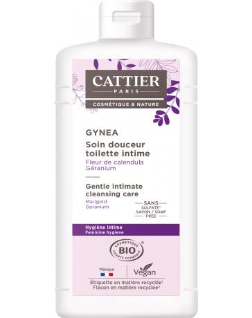 Soin douceur Gynéa Fleur de Calendula Géranium 500ml Cattier - soin nettoyant intime