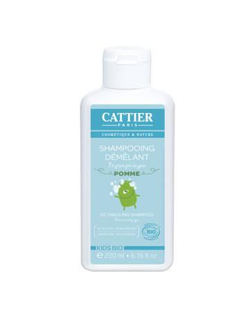 shampooing démêlant enfants ne pique pas les yeux à la Pomme 200ml Cattier - produit de nettoyage pour enfant