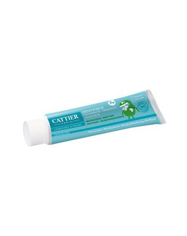 Dentifrice enfants +7 ans protection fluor goût menthe douce 50ml Cattier - produit de nettoyage pour les dents