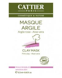 Cattier Masque argile rose Aloe vera sachet unidose 12.5