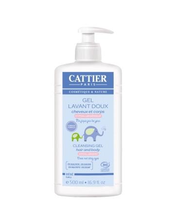 Gel lavant doux bébé 500ml Cattier - cosmétique bio
