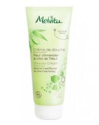 Crème de douche fleur d'amandier & miel de tilleul 200ml Melvita - cosmétique biologique