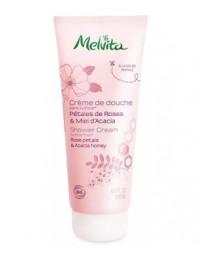 Crème de douche pétales de roses & miel d'acacia 200ml Melvita - cosmétique biologique
