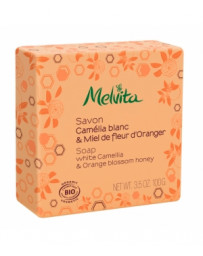 Savon Camélia blanc et miel de fleur d'oranger 100g Melvita - cosmétique biologique