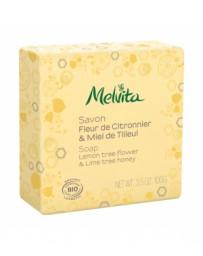 Savon Fleur de citronnier et miel de tilleul  100g Melvita - cosmétique biologique