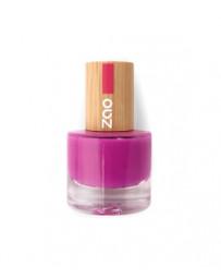 Vernis à ongles 661 Fuchsia 8ml Zao - produit de maquillage biologique