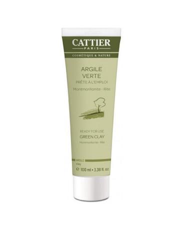 Argile verte Montmorillonite Prête à l'Emploi Tube Mini 100ml Cattier - produit de soin du visage
