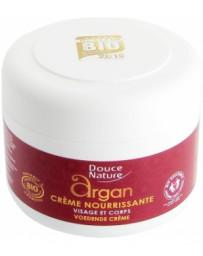 Crème nourrissante visage et corps à l'huile d'Argan et beurre de Karité 200ml Douce Nature - soin pour le corps