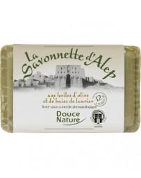 Savonnette d'Alep 12% d'huile de baies de Laurier 100g Douce Nature - produit de nettoyage pour le corps