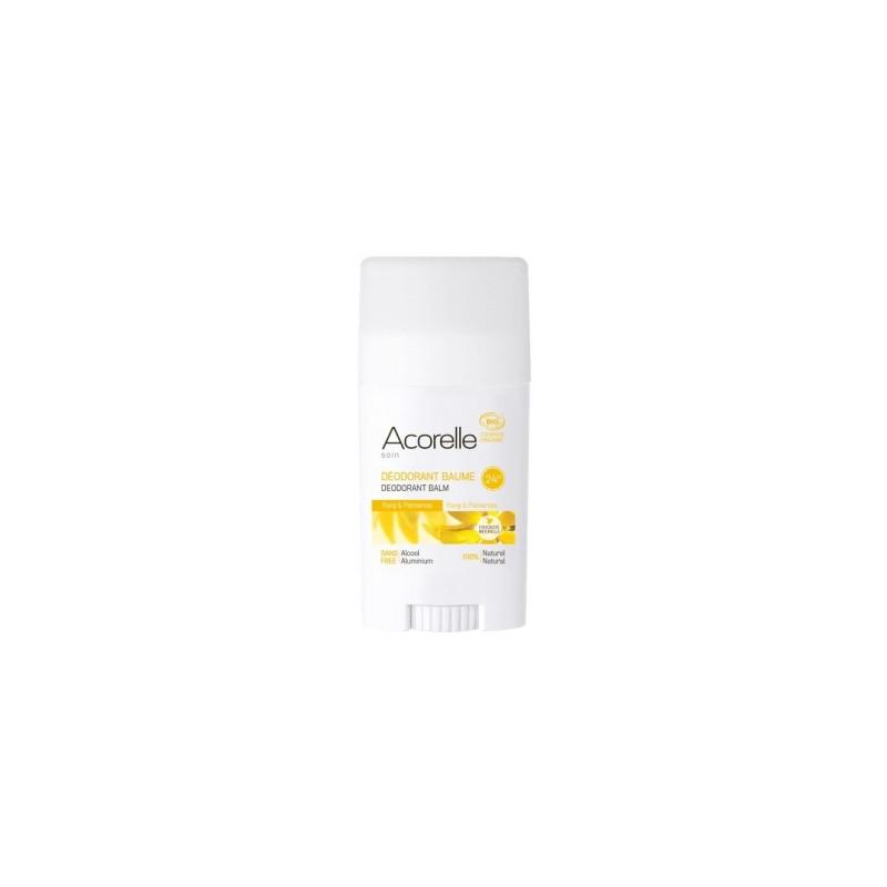 Déodorant Baume Ylang Ylang Palmarosa 40g Acorelle - produit d'hygiène biologique
