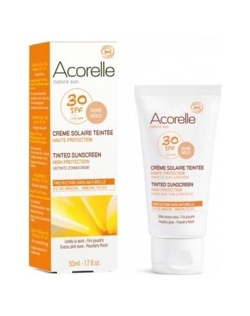Crème Solaire teintée SPF 30 50ml Acorelle - cosmétique biologique