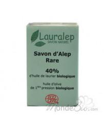 Savon d'Alep Rare 40% huile de Laurier 150g Lauralep - produit de nettoyage pour le corps